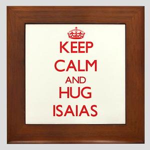Keep Calm and HUG Isaias Framed Tile