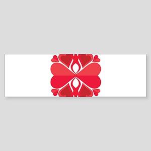 SNOWFLAKE HEARTS Sticker (Bumper)