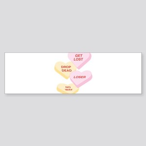 NOT SO GREAT CONVERSATION HEARTS Sticker (Bumper)