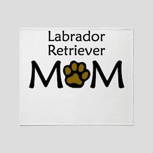 Labrador Retriever Mom Throw Blanket