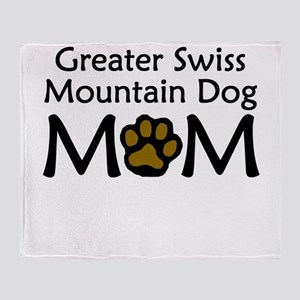 Greater Swiss Mountain Dog Mom Throw Blanket