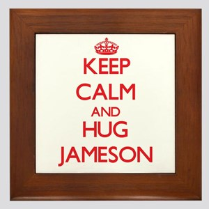 Keep Calm and HUG Jameson Framed Tile