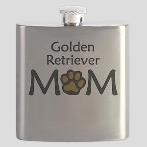 Golden Retriever Mom Flask