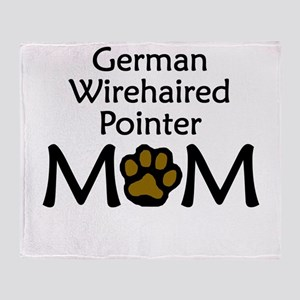 German Wirehaired Pointer Mom Throw Blanket