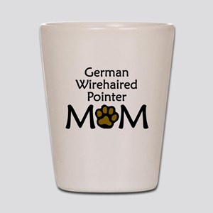 German Wirehaired Pointer Mom Shot Glass