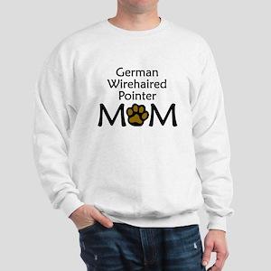 German Wirehaired Pointer Mom Sweatshirt