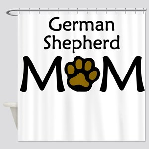 German Shepherd Mom Shower Curtain