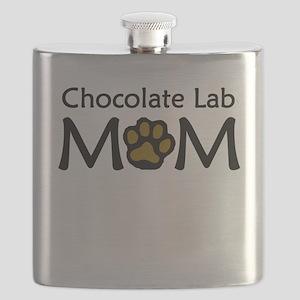 Chocolate Lab Mom Flask