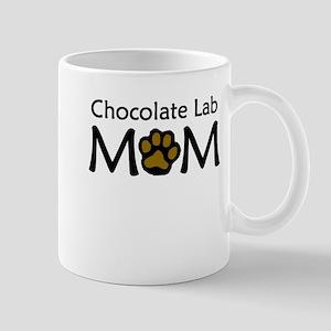 Chocolate Lab Mom Mugs
