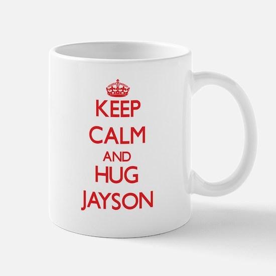 Keep Calm and HUG Jayson Mugs