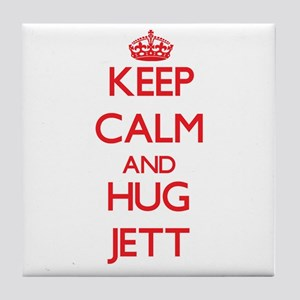Keep Calm and HUG Jett Tile Coaster
