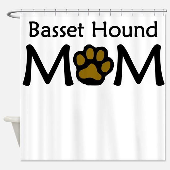 Basset Hound Mom Shower Curtain