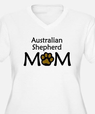 Australian Shepherd Mom Plus Size T-Shirt