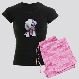 Maltese Girl In Pink Women's Dark Pajamas