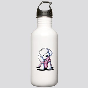 Maltese Girl In Pink Stainless Water Bottle 1.0L