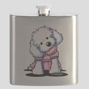 Maltese Girl In Pink Flask