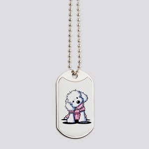 Maltese Girl In Pink Dog Tags