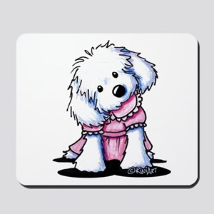 Maltese Girl In Pink Mousepad