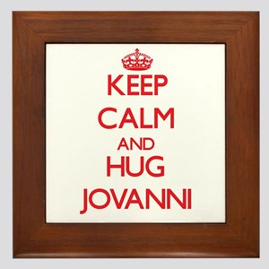 Keep Calm and HUG Jovanni Framed Tile