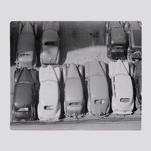 Parking Lot, 1940 Throw Blanket