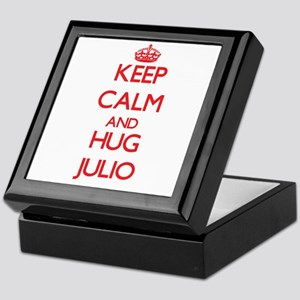 Keep Calm and HUG Julio Keepsake Box