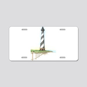 Cape Hatteras Lighthouse Aluminum License Plate