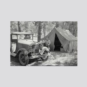 Camping in the Yakima Valley, 1936 Magnets