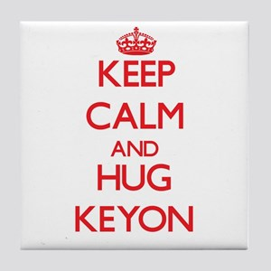 Keep Calm and HUG Keyon Tile Coaster