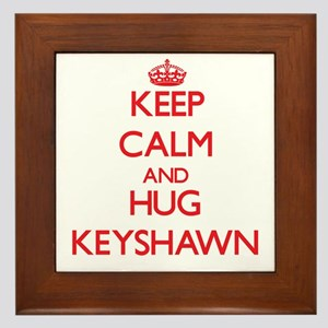 Keep Calm and HUG Keyshawn Framed Tile