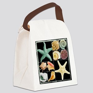 Seashell Collection Canvas Lunch Bag