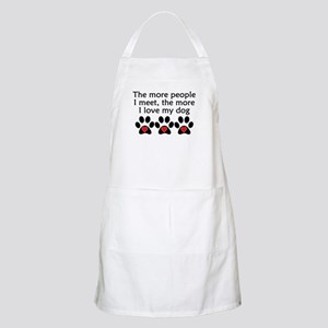 The More I Love My Dog Apron