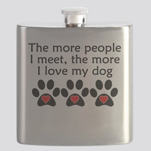 The More I Love My Dog Flask