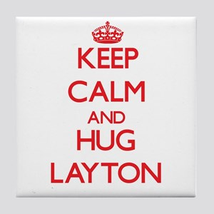 Keep Calm and HUG Layton Tile Coaster