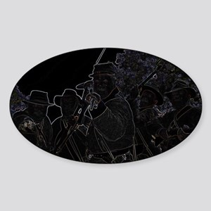 Civil War - Rebel Yell Sticker (Oval)