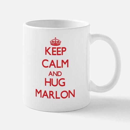 Keep Calm and HUG Marlon Mugs