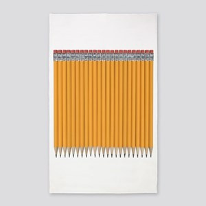 Number 2 Pencils Pack 3'x5' Area Rug