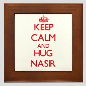 Keep Calm and HUG Nasir Framed Tile