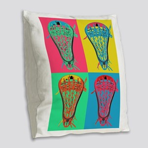 Lacrosse BIG 4 Burlap Throw Pillow