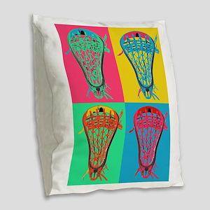 Lacrosse BIG 4 Burlap Throw Pillow