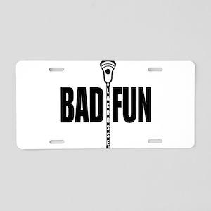 Lacrosse Bad Fun Aluminum License Plate