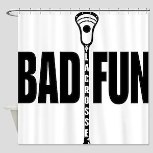 Lacrosse Bad Fun Shower Curtain