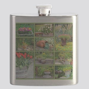 Beautiful colorful garden collage Flask