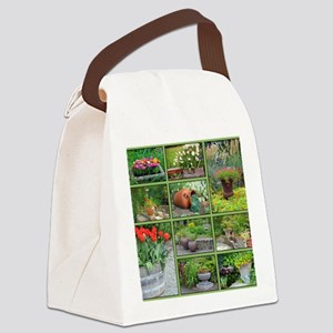 Beautiful colorful garden collage Canvas Lunch Bag