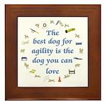 Best Dog For Agility Framed Tile