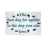 Best Dog For Agility Rectangle Magnet