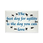 Best Dog For Agility Rectangle Magnet (10 pack)