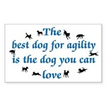 Best Dog For Agility Rectangle Sticker