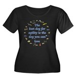 Best Dog For Agility Women's Plus Size Scoop Neck