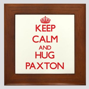 Keep Calm and HUG Paxton Framed Tile