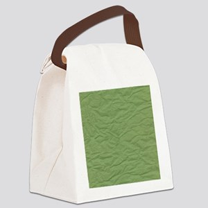 Wrinkled Green Paper Texture Canvas Lunch Bag